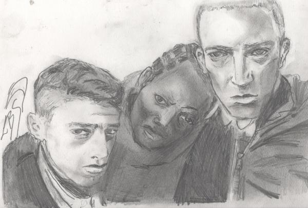 Saïd Taghmaoui, Hubert Koundé, Vincent Cassel par LBS